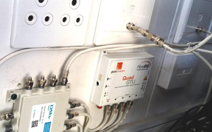 fiber termination installation